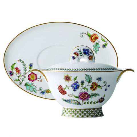 Gione Gravy Boat & saucer, Gold