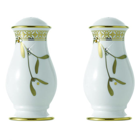 Golden Leaves Salt & Pepper Shaker, Gold