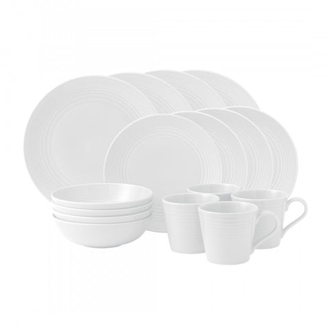 Royal Doulton Maze White 16-Piece Set Dalmazio Design