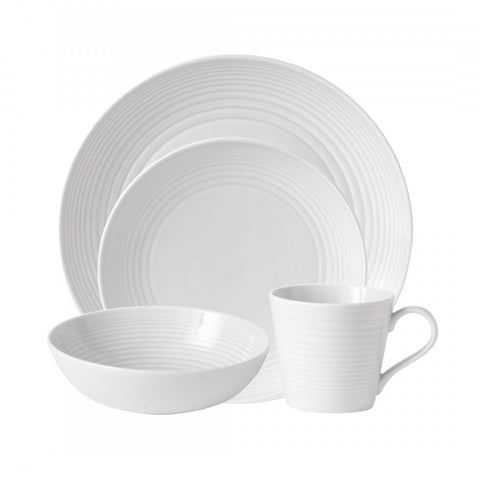 Royal Doulton Maze White 4-Piece Place Setting Dalmazio Design