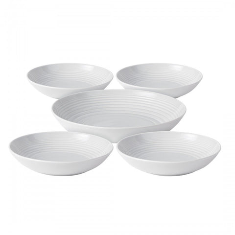 Royal Doulton Maze White 5-Piece Pasta Set Dalmazio Design