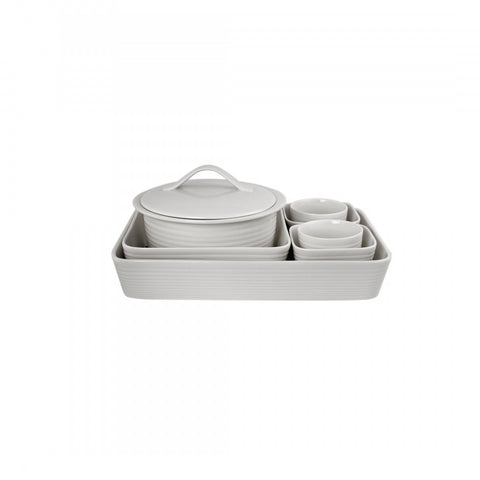 Royal Doulton Maze White 7-Piece Bakeware Set Dalmazio Design