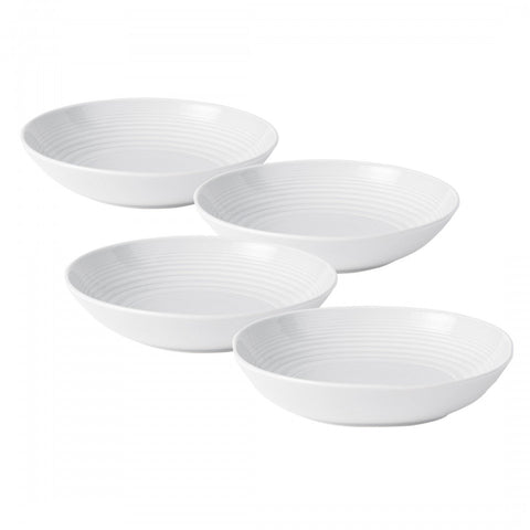 Royal Doulton Maze White Pasta Bowl; Set of 4 Dalmazio Design