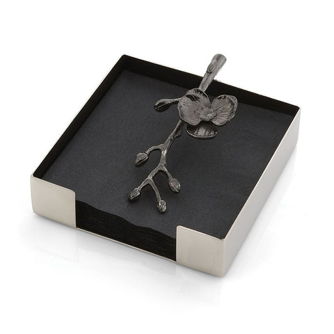 Black Orchid Cocktail Napkin Holder