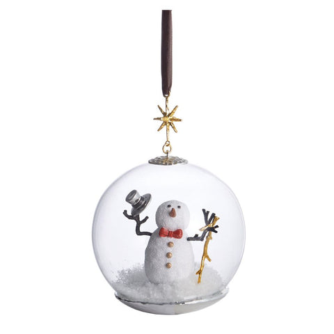 Snowman Snow Globe Ornament