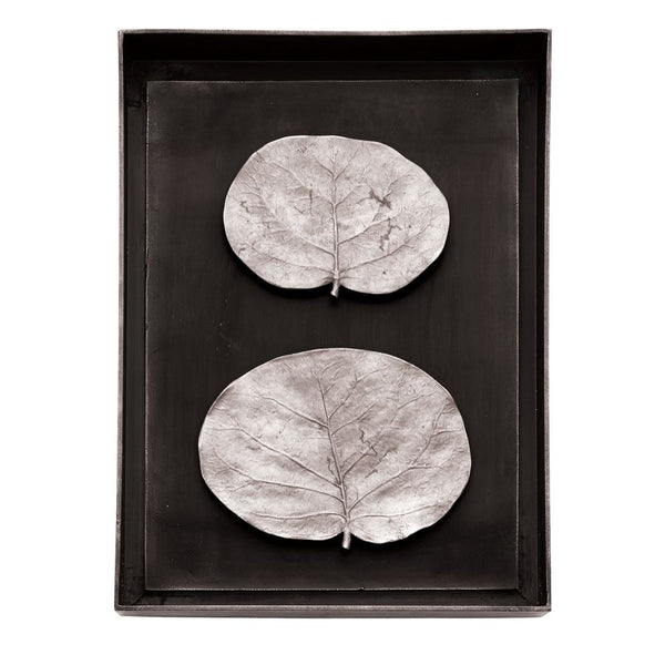 Botanical Leaf Shadow Box Antique Nickel
