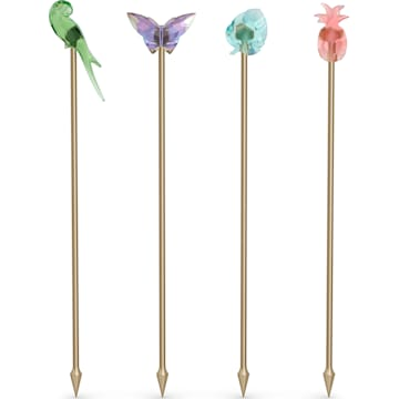 Swarovski Jungle Beats Cocktail Stirrers Andoki, Set of 4 - Dalmazio Design