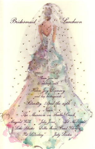 The Gown Personalized Bridal Invitations (Set of 50)