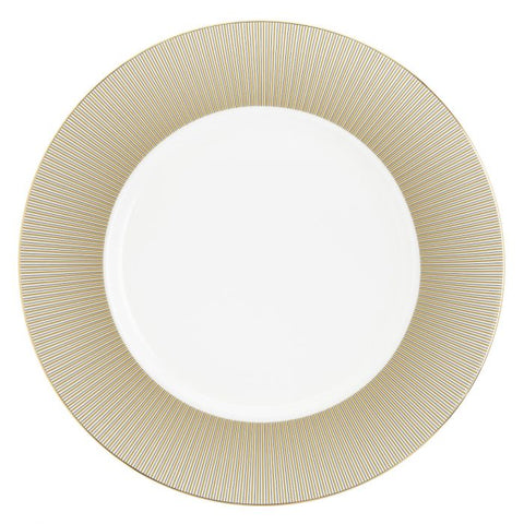 Luminous Round Platter / Charger plate, Gold