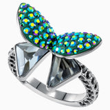 Magnetized Motif Ring, Multi-Colored, Black Ruthenium Plated - LAST IN STOCK