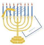 Menorah Personalized Holiday Card/ Invitation (Set of 50)