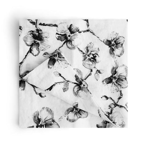 Black Orchid Dinner Napkin Set