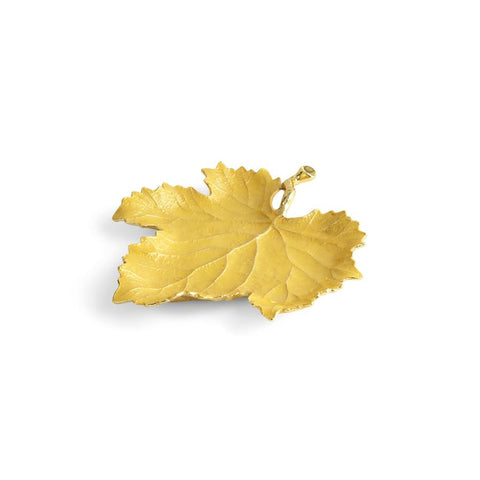 Vine Yellow Grape Leaf Dish