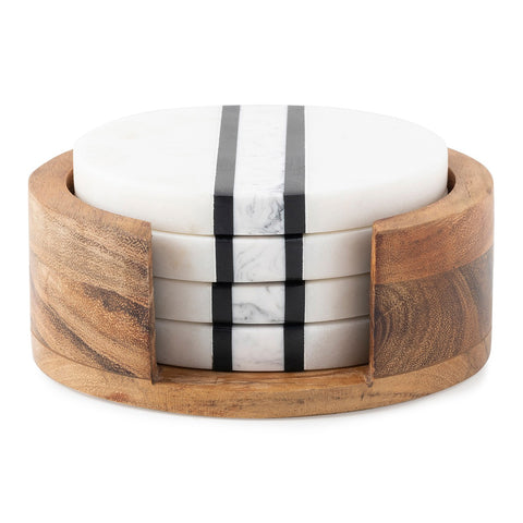 Stonewood Stripe Coaster Set