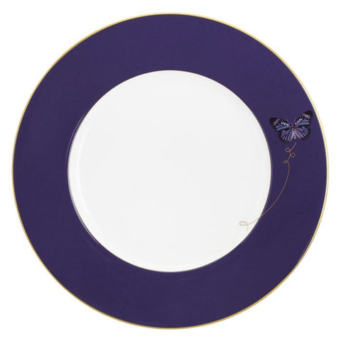 My Butterfly Charger Plate, Gold-Purple