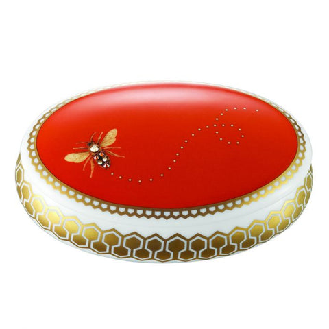 My Honeybee Oval Jewelry Box, Gold-Orange