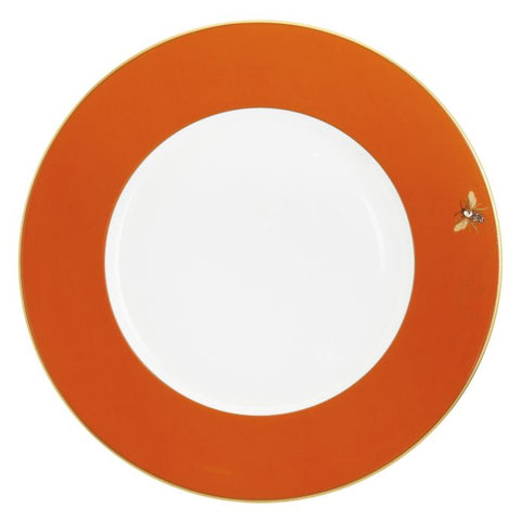 My Honeybee Charger Plate, Gold-Orange
