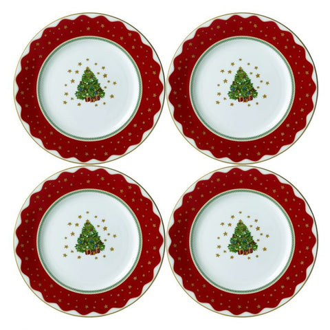 My Noel Salad / Dessert Plate (Set of 4)