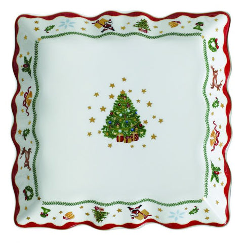 "My Noel 9"" Lace Square Tray"