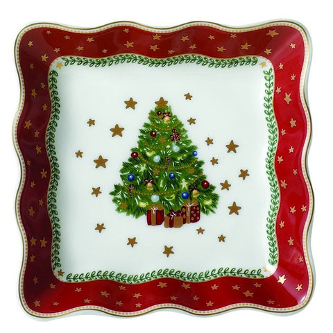 "My Noel 4"" Lace Square Tray"