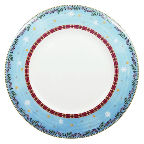 Nutcracker Round Platter / Charger Plate, Gold Rim