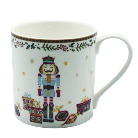 Nutcracker Mug / Coffee Cup, Gold Rim