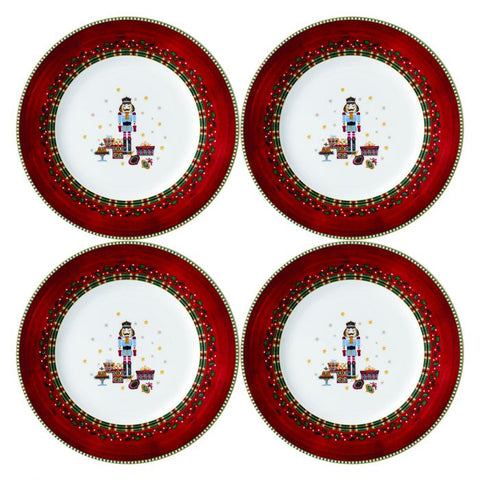 Nutcracker Salad / Dessert Plate (Set of 4)