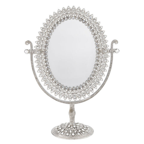 Oval Magnified Standing Mirror