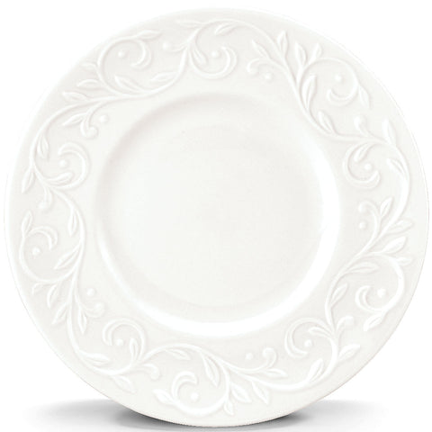 "Lenox Opal Innocence Carved 4-piece 7"" Dessert Plate Set by Lenox Dalmazio Design"