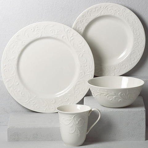Lenox Opal Innocence Carved™ 4-piece Place Setting Dalmazio Design