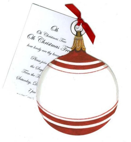 Ornament w/ Ribbon Personalized Holiday Card/ Invitation (Set of 50)