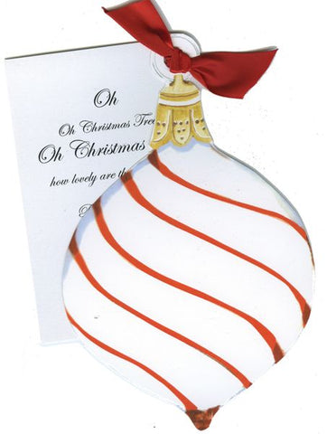 Ornament w/ Red Ribbon Personalized Holiday Card/ Invitation (Set of 50)