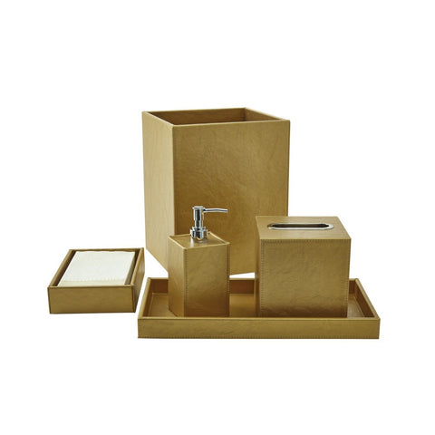 Bath Set (5pc Set), Gold