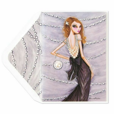 Pearl Fashion Dress Birthday Card