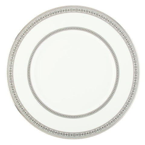 Platinum Leaves Charger Plate, Platinum