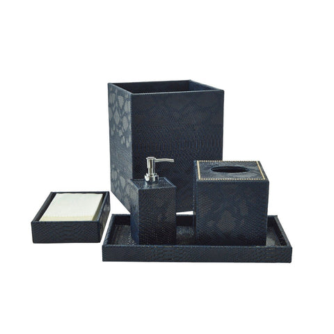Bath Set (5pc Set), Midnight, With Crystal