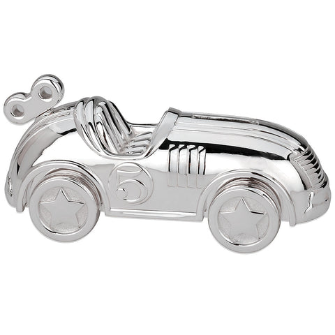 Race Car™ Silverplate Bank - LAST IN STOCK