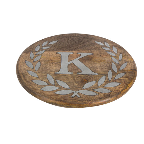 GG Collection Trivet W/Letter K Dalmazio Design