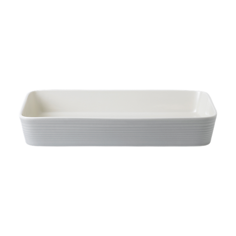 Maze Light Grey Roasting Dish
