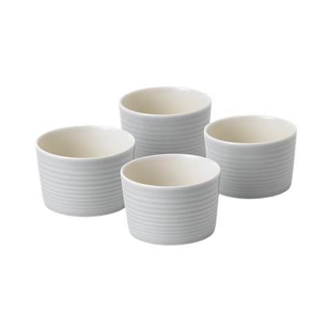 Maze Light Grey Ramekin (Set of 4)