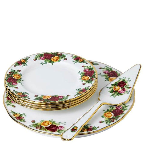 Old Country Roses 6-Piece Cake Server Set