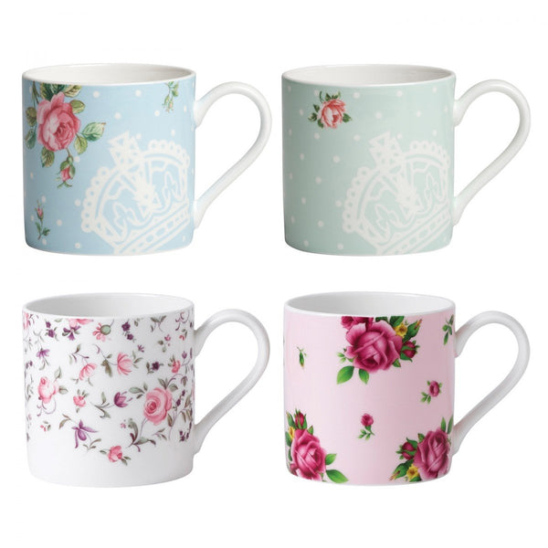Royal Albert New Country Roses Assorted Modern Casual Mugs, Set of 4 Dalmazio Design