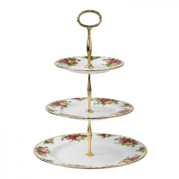 Royal Albert Old Country Roses 3-Tier Cake Stand Dalmazio Design