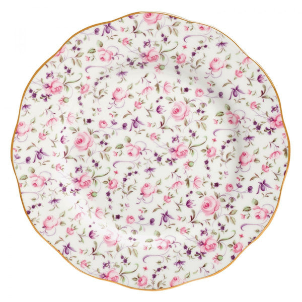 Royal Albert Rose Confetti Vintage Salad Plate Dalmazio Design