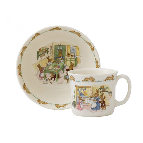 Royal Doulton Bunnykins Nurseryware Infant 2-Piece Set Dalmazio Design