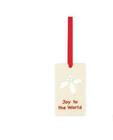 Joy to the World Charm Ornament - LAST IN STOCK