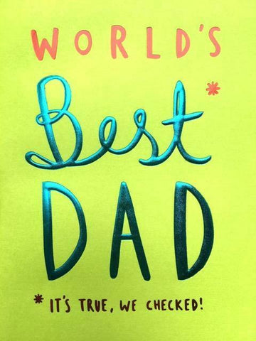 World's Best Dad Father's Day Card