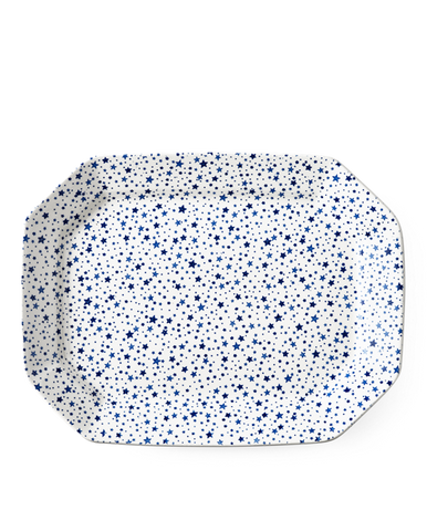 Midnight Sky Large Rectangular Platter, Light Indigo