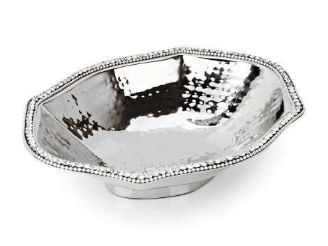 Stainless Steel Octagonal Dish w Diamonds