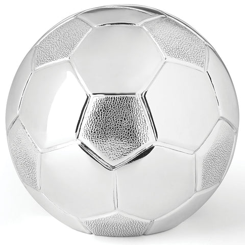 Silverplate Soccer Ball Bank - LAST IN STOCK